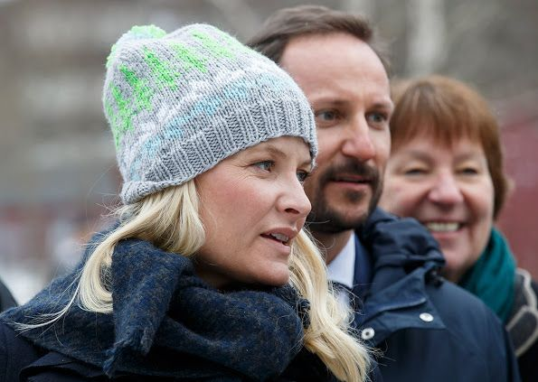 Prince Haakon and Princess Mette-Marit visits Furuset in Alna