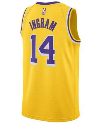 848a37d2a Nike Men s Brandon Ingram Los Angeles Lakers Icon Swingman Jersey - Yellow S