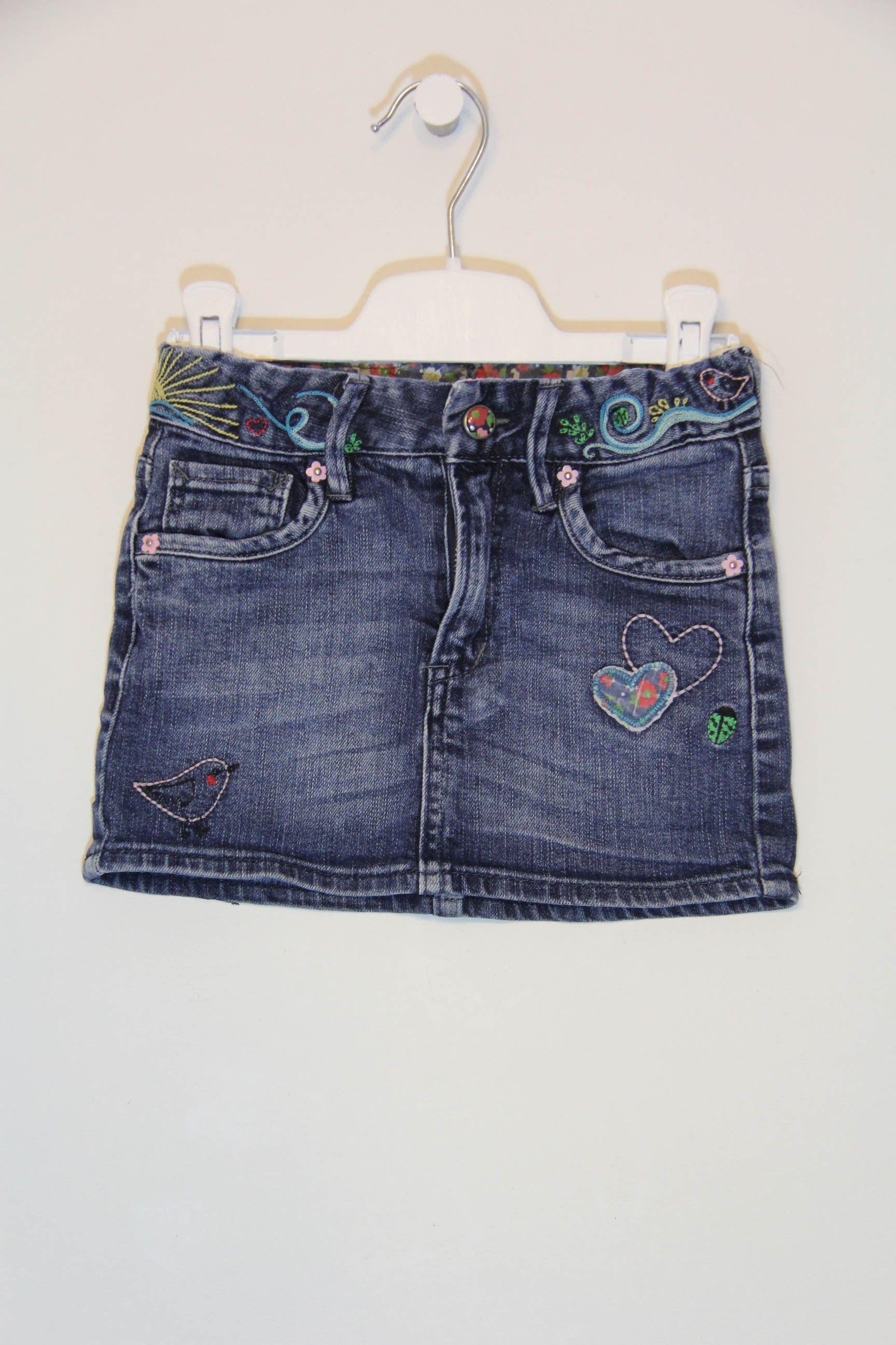 a1d6212fe Falda 3-4 años | moda infantil | Faldas de mezclilla, Polleras de ...