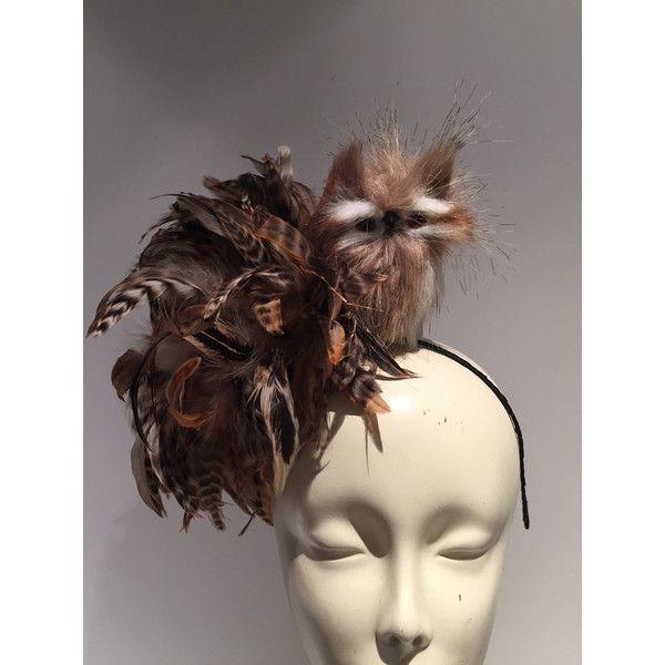 Owl Fascinator Bird Fascinator Brown Fascinator Owl Costume-Derby... ( 70) 6bf22073bbe