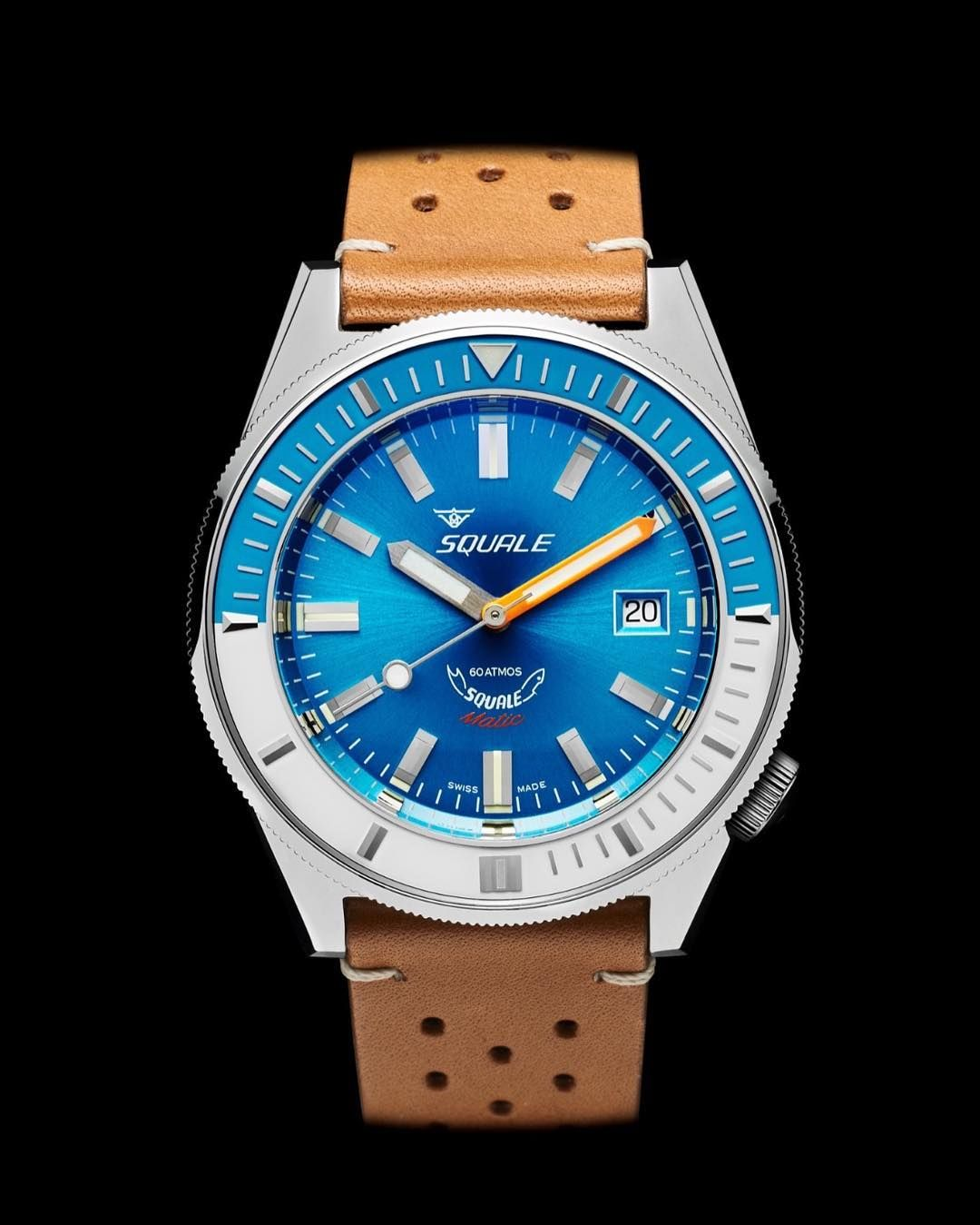 matic watches automatic movement sapphire atmos domed squale pin