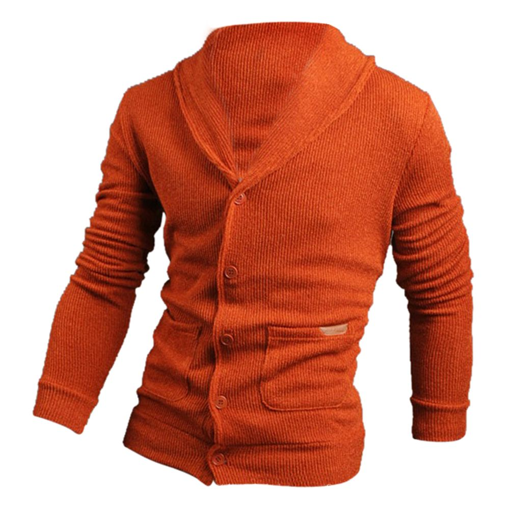 2017 NEW Sweater Lapel Mens Cardigan Sweater Fashion Knitted ...