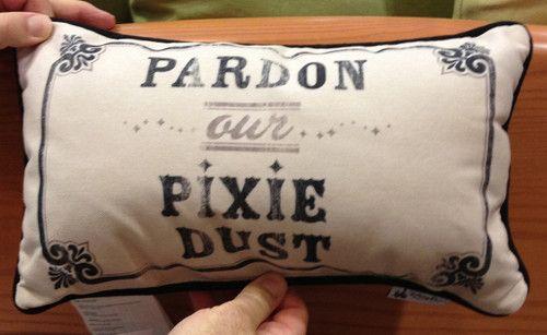 Disney Park Pardon Our Pixie Dust Decorative Toss Pillow Decorator | eBay