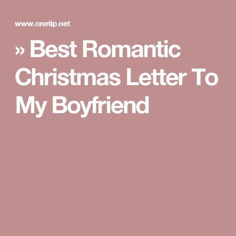 Christmas letter to boyfriend