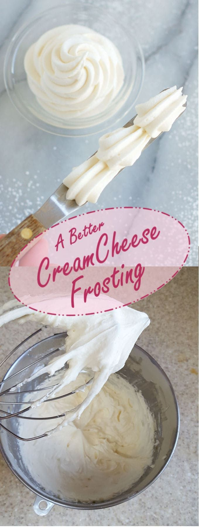Cheese Frosting - Cream Cheese Icing I've made a few small changes to the typical Cream Cheese Frosting recipe for an icing that's easy to make and has great texture and flavor.I've made a few small changes to the typical Cream Cheese Frosting recipe for an icing that's easy to make and has great texture and flavor.