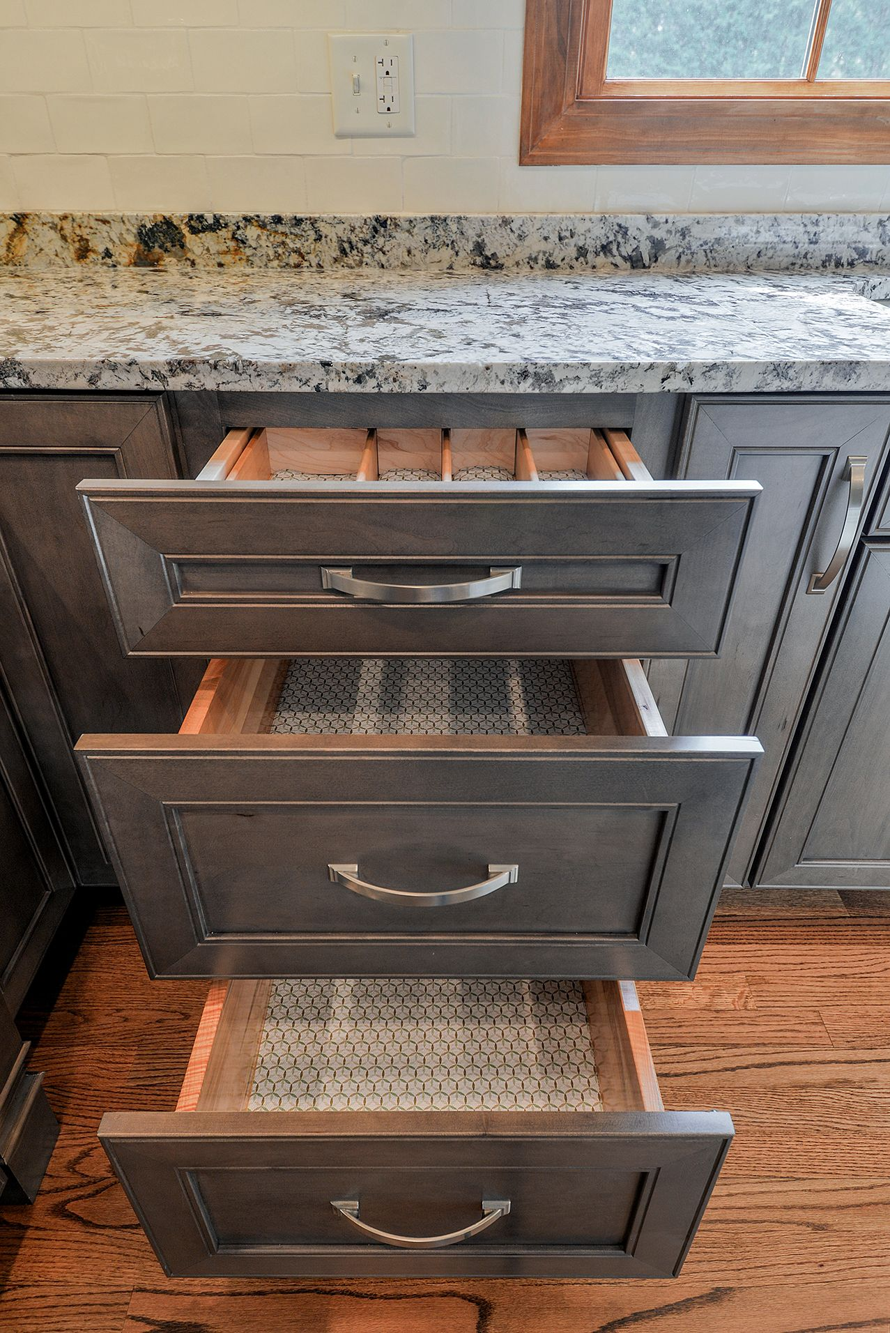 Wellborn Cabinet Inc Premier Series Sonoma Door Style On Maple Wood Stained With Drift The Drawers A Wellborn Cabinets Finish Kitchen Cabinets Staining Wood