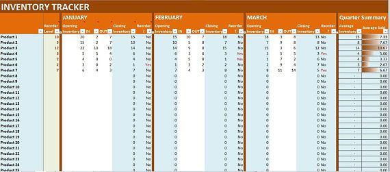 Inventory Tracker Excel Template Online Business Stock Log - log templates excel
