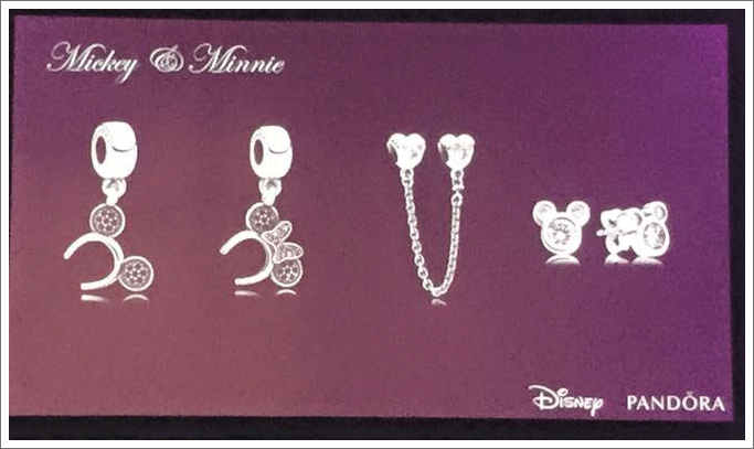 Pandora Mickey And Minnie Mouse Safety Chain
