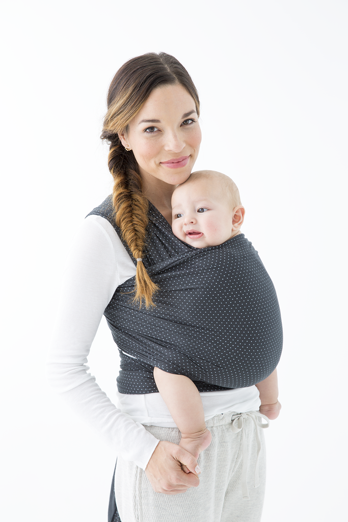 Charcoal Swiss Dot Baby Baby Wrap Carrier Baby Best Baby Carrier