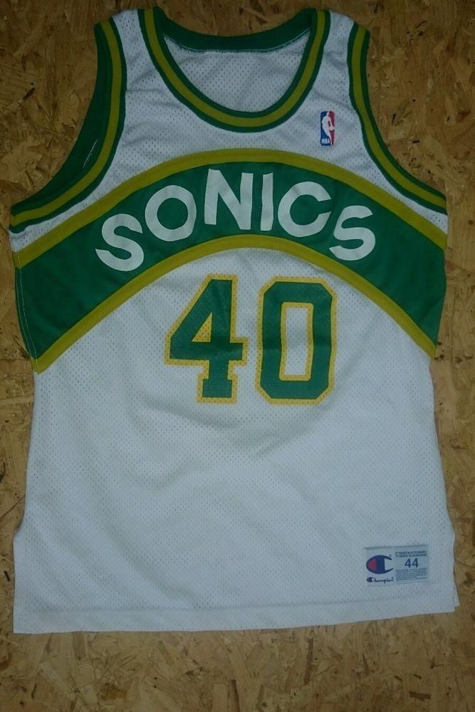 brand new 8c2c0 406eb Shawn Kemp Seatle Super Sonics Authentic Basketball Jersey ...