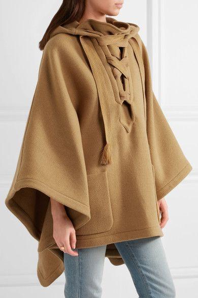 Caramel wool-blend  Slips on 80% wool, 20% polyamide  Dry clean Designer color: Khaki Brown Made in France