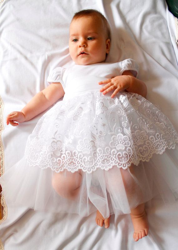 Only $35. Baby girl baptism dress, christening gown, white baby ...