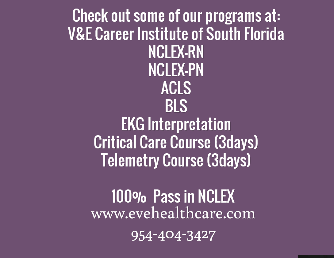 Check Out Some Of Our Programs At V Amp E Career Institute Of