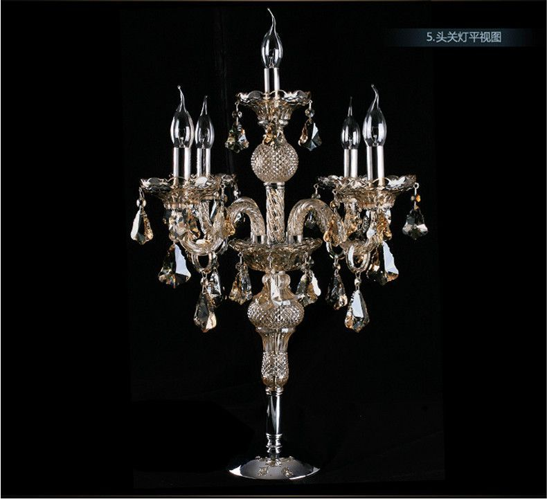 Free Shipping Factory Direct Sale Large Candelabra Lamp Crystal Table Lamp Desk Lamp Big Candle Holder Bedr Crystal Lamp Crystal Table Lamps Candle Inspiration