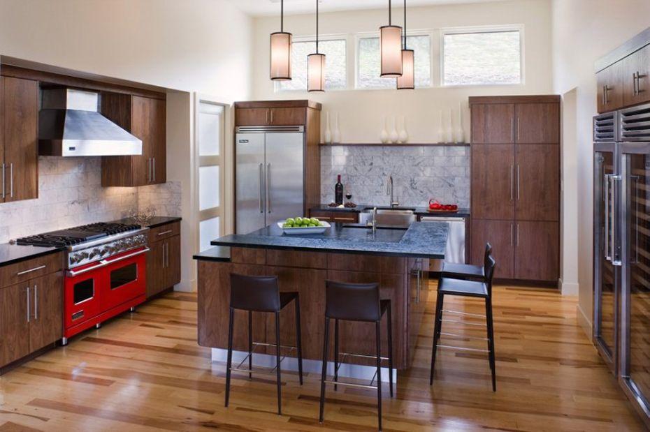 Kitchen, Westlake Drive House by James D. LaRue Architects