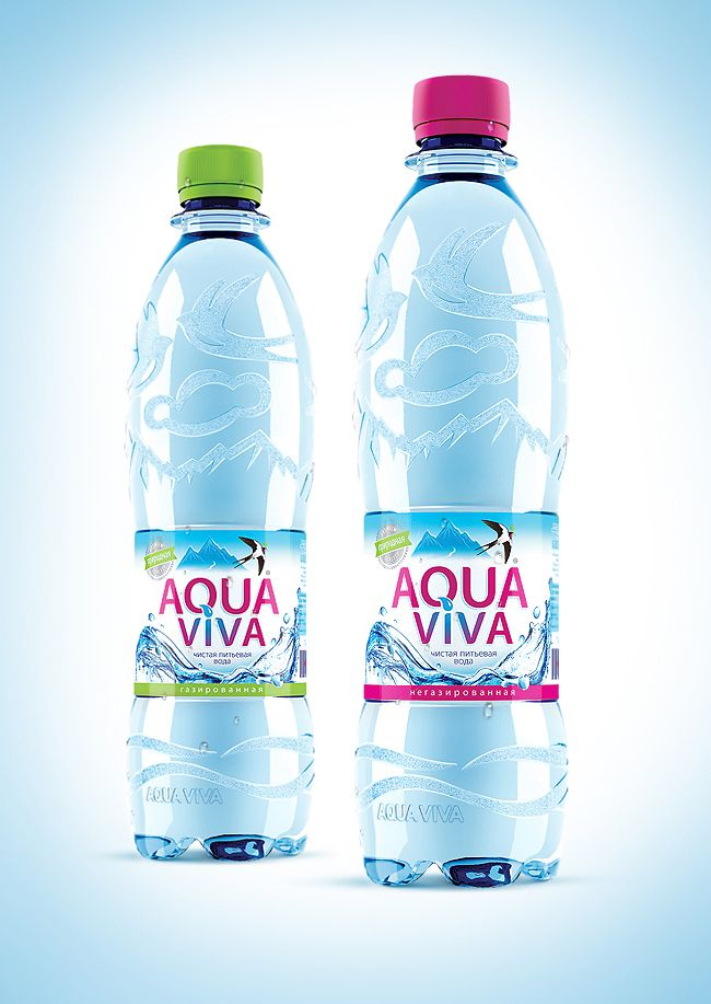 Aqua Viva Bottle Water Bottle Design Packaging Design Bottle