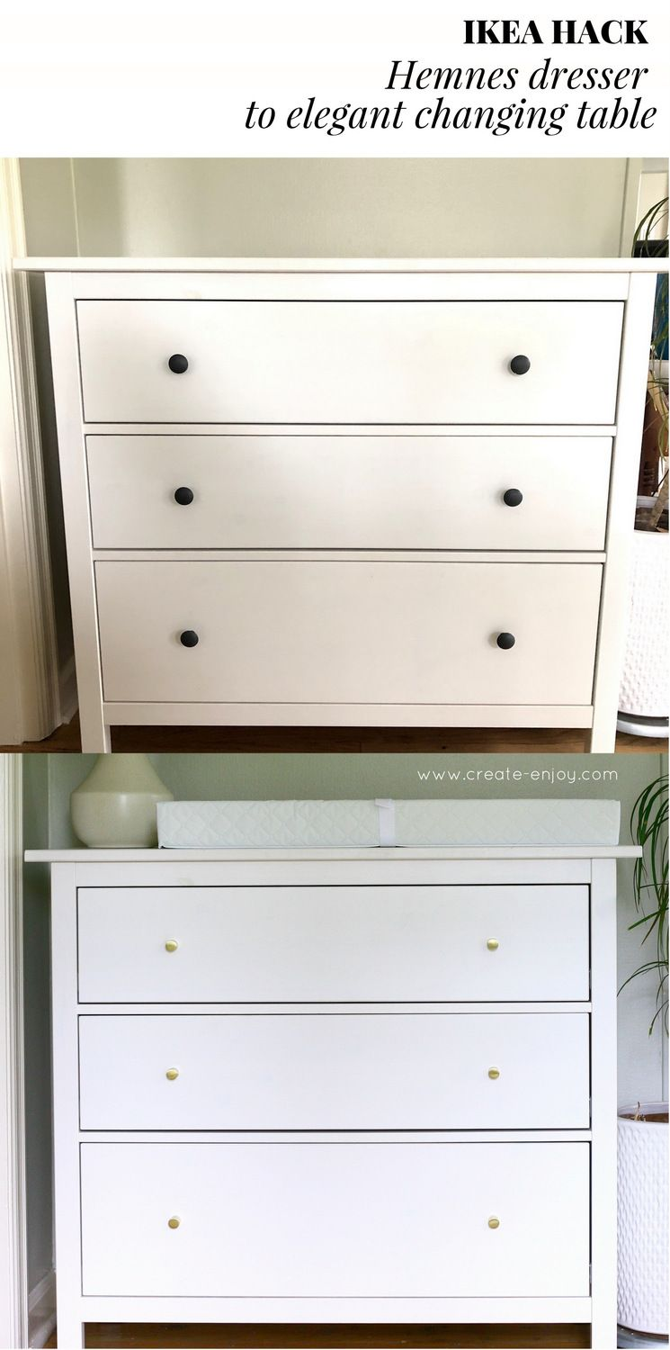 Real Simple Ikea Hack Hemnes Dresser To Changing Table Update For The Nursery Create Ikea Changing Table Hack Changing Table Dresser Ikea Changing Table