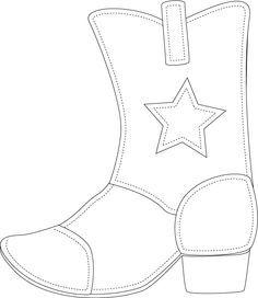 Dibujo de bota de vaquero   Ilustraciones   Dibujos de