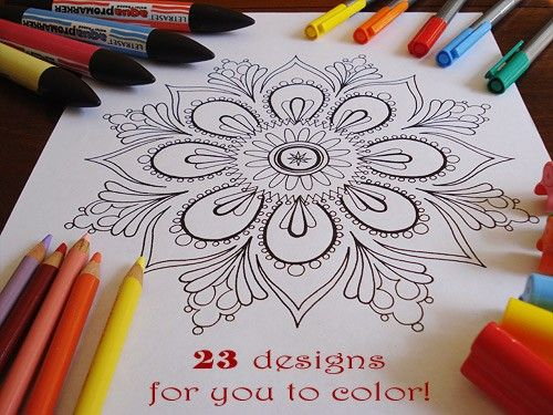 Mandala Coloring Pages 23 Printable PDF Blank By Thaneeya 1200