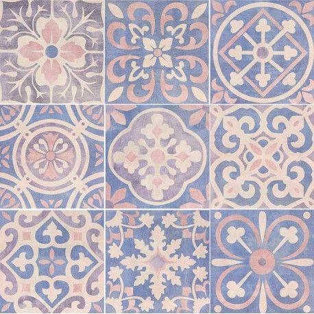 Carrelage Design Mural Mat Multicolore 20 X 20 Cm Ce0111017