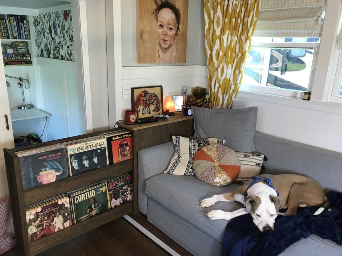 Fold Out Sleeper Couch Storage For Books And Records To
