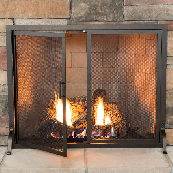 Image Result For Fireplace Screen Inside Mount Chimeneas