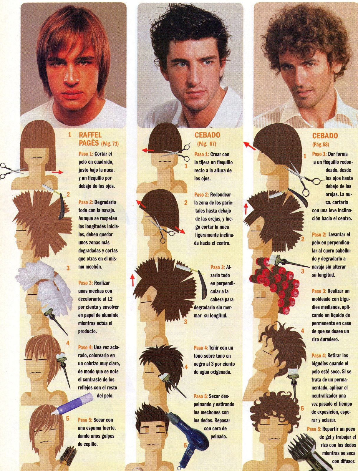 Tecnicas de corte de cabello en hombres