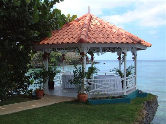 Perfect Location For A Tropical Wedding Gazebo Overlooking The Ocean At Breezes Bahamas Resort