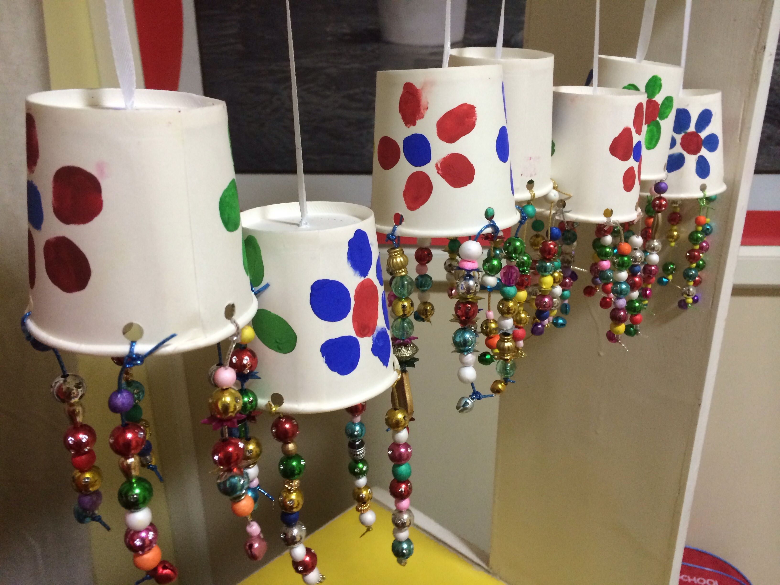 waste material wind chimes summer camp fun school