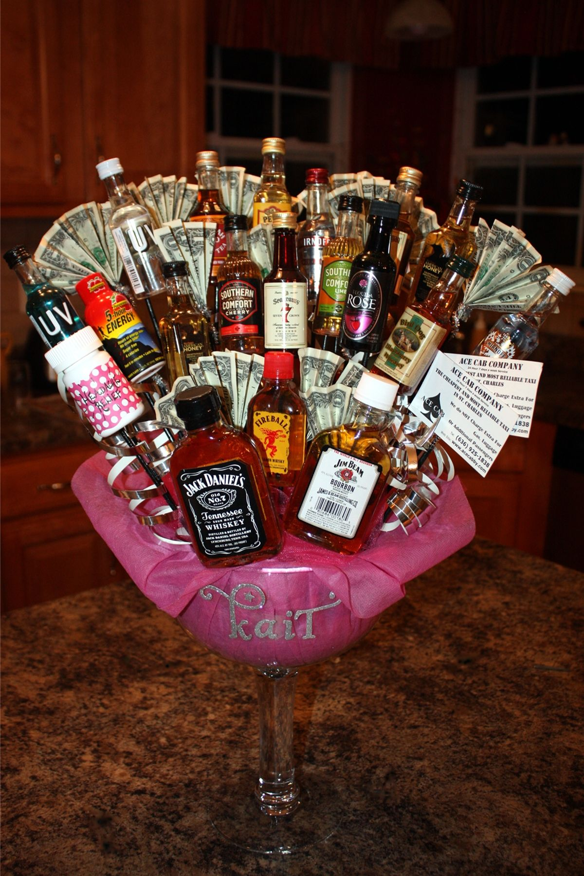 Awesome 21st Birthday Gift Featuring 21 Dollars, Shots, 5