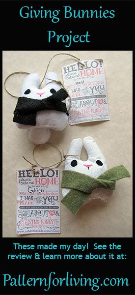 Pattern for Living   The Giving Bunnies Project -- free pattern