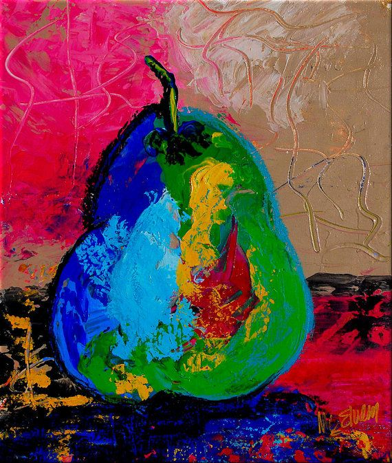 (For Sophie C)  Catherine Claire McElveen ~ Abstract Pear