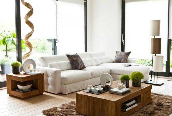 Abbinare legno nel salotto 20 idee per arredare il salone for Idee per arredare salone