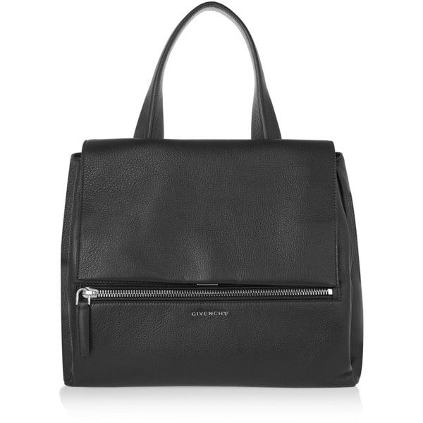 Givenchy Medium Pandora Pure bag in black textured-leather ($2,475) ❤ liked on Polyvore