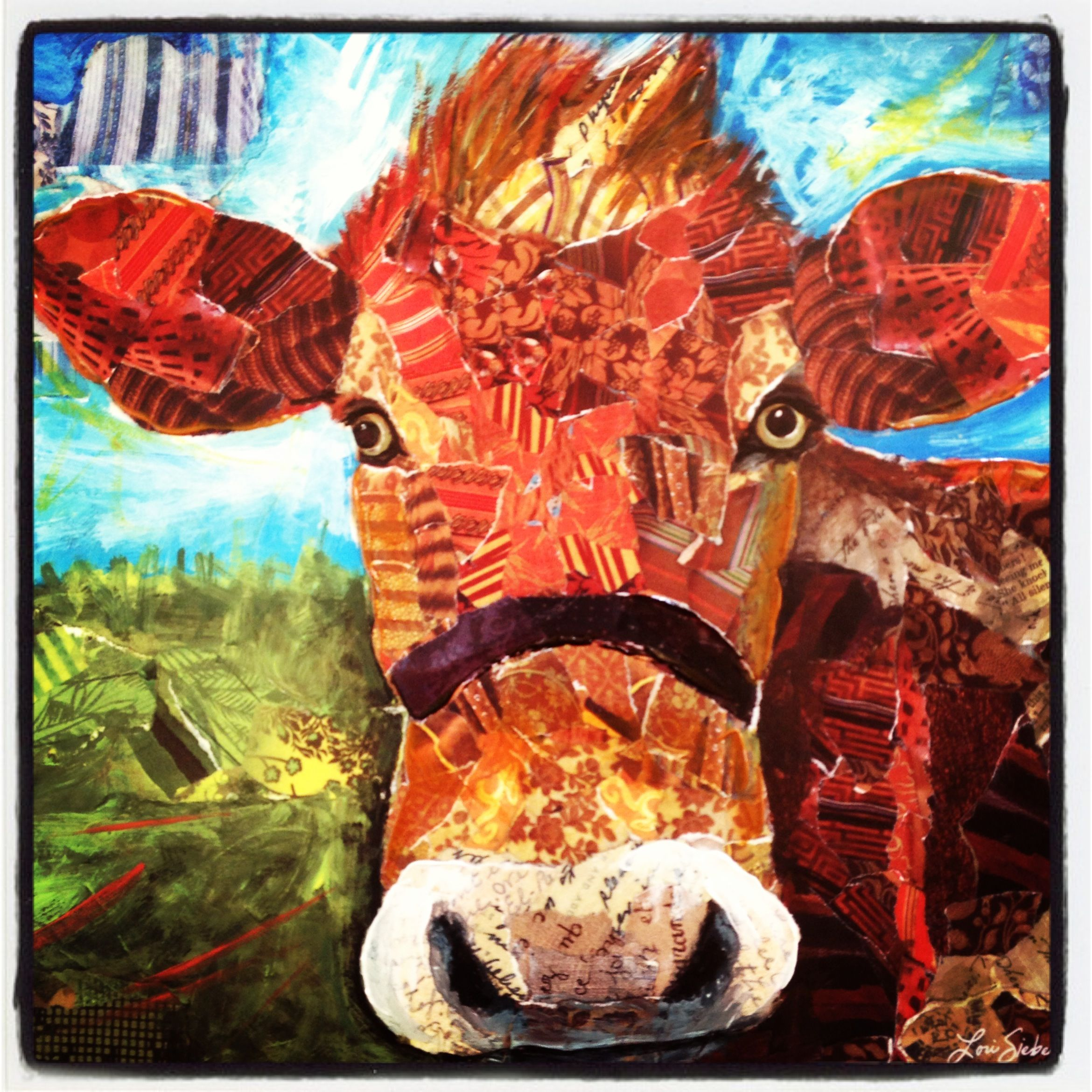 Dairy cow by artist Lori Siebert.