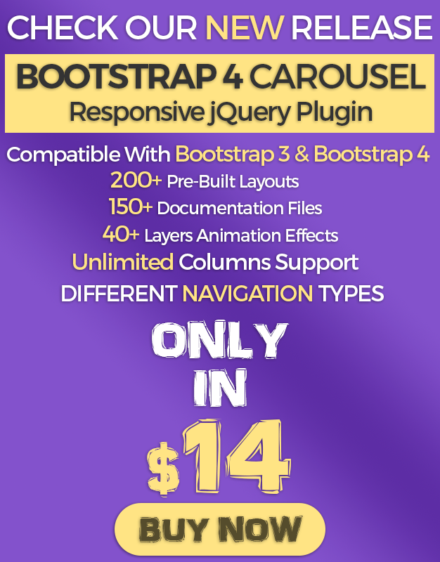 Bootstrap 4 Carousel Responsive Jquery Plugin Plugins Jquery Grid System