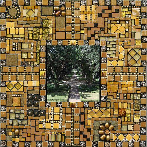 "Homage to Laurel Skye's tutelage | 10"" x 10"" mirror, made wi… | Flickr"