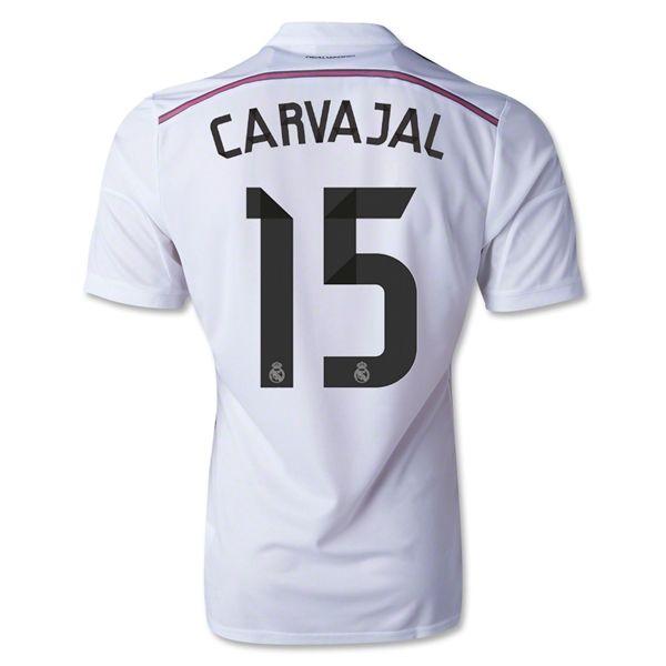 Maillot Real Madrid 2014 2015 Carvajal 15 Domicile Pas Cher Real Madrid Soccer Jersey Real Madrid 2014