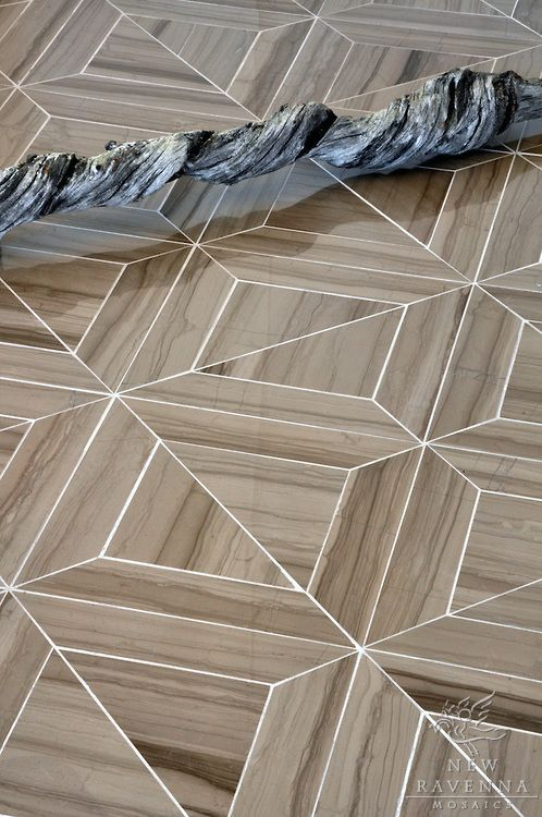 Marble Floor Types And Prices In Lahore: Truman Stone Mosaic Shown In Driftwood