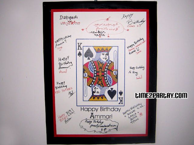 Birthday Guestbook Frame Deck Of Cards Or For A Poker Theme