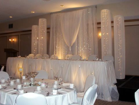 Head table wedding backdrop 8high x 8w swag 4w x 8high tall decoration head table wedding junglespirit Image collections