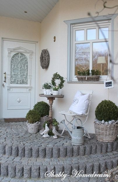 Nordic Shabby Chic in Germania a casa di Mary #hausdekoeingangsbereichaussen