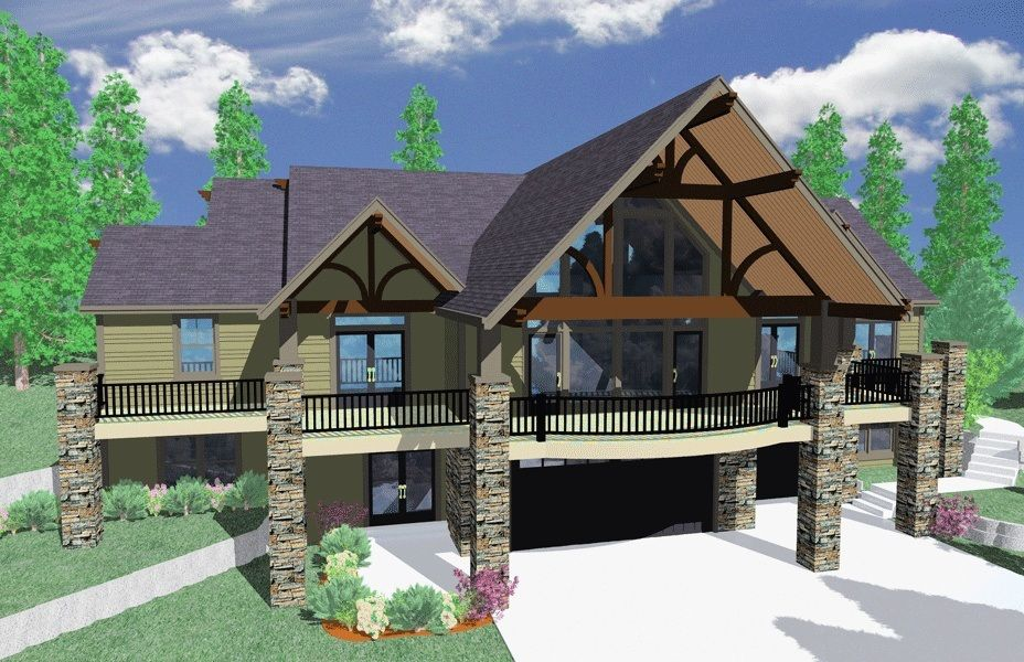 Plan 85010ms Aspen Style Retreat Craftsman Bungalow House Plans Craftsman House Plans Courtyard House Plans