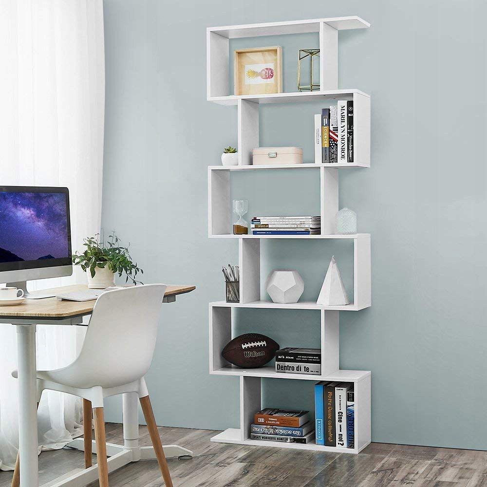 Regal Polka Szafka Bialy Futurystyczny 190 Cm Room Divider Shelves Wooden Bookcase Bookcase