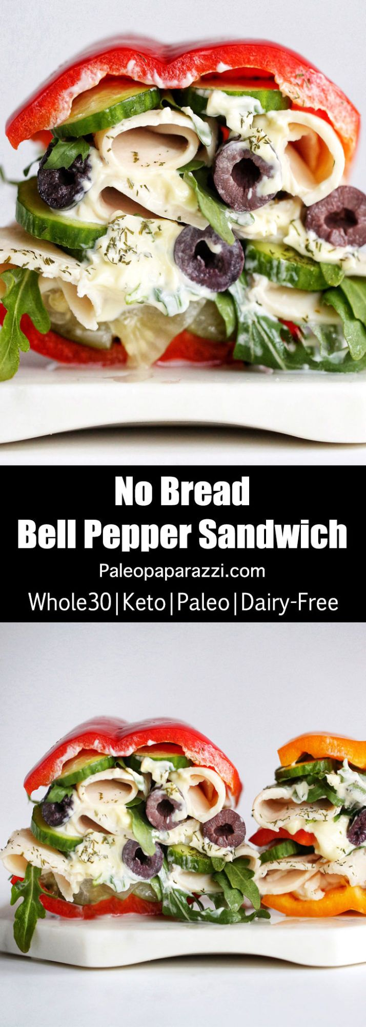 Breadless Bell Pepper Sandwich (Whole30-Keto-Paleo) - The Paleo Paparazzi
