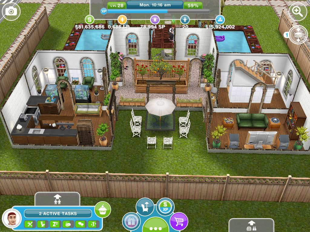 Alec Lightwood\'s interior - first floor | Sims Freeplay Home ...
