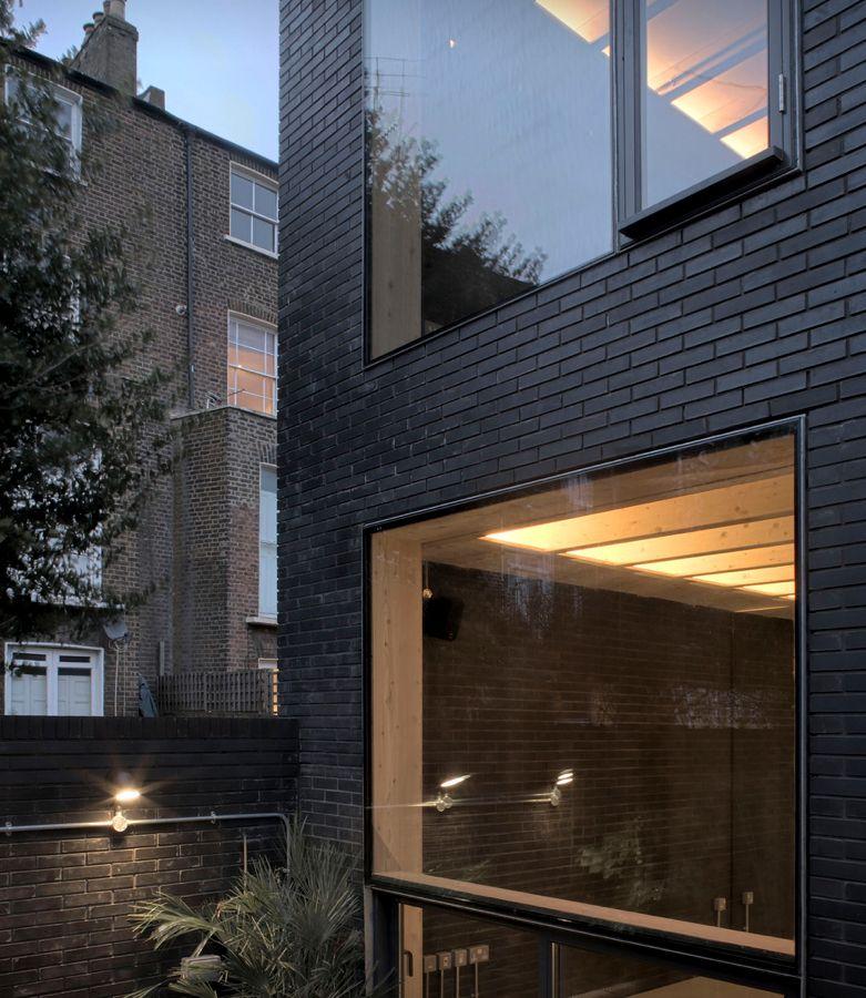 Black Brick House In London Brick Architecture Brick