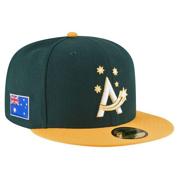 b9968187b1978f Men's Australia Baseball New Era Green/Yellow 2017 World Baseball Classic  59FIFTY Fitted Hat | MLBShop.com