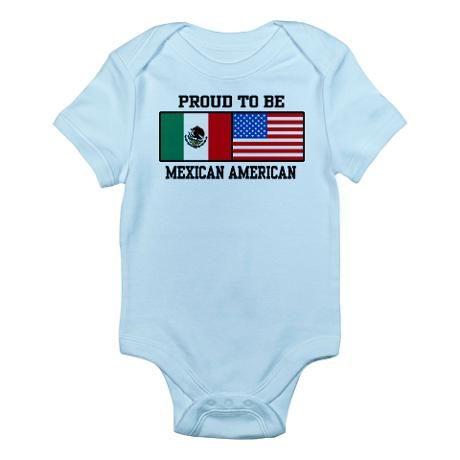 262df304fa1 Proud Mexican American Infant Bodysuit Baby Light Bodysuit
