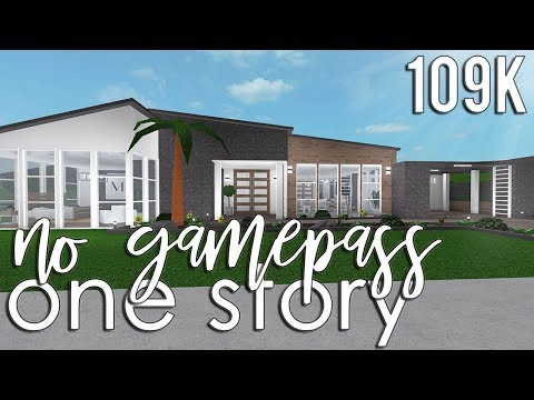 Roblox Bloxburg No Gamepass One Story 109k Youtube Two Story House Design My House Plans Build A House Game
